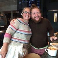 Idag träffade jag Ben från Lion Brand och blev kallad 'yarn hero'
