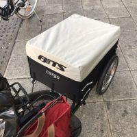 Cykelvagnen skapade debatt på kafferasten